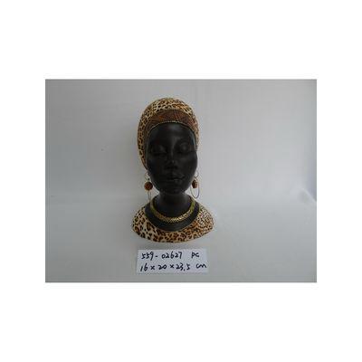POLY AFRICAN LADY HEAD DÉCOR